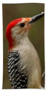 Red-bellied Woodpecker Bath Towel