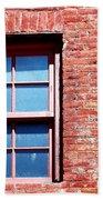 Red Brick Window Bath Towel