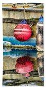 Red Buoy Reflections Of Alaska Bath Towel