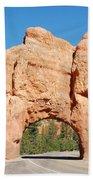 Red Canyon Tunnel Bath Towel