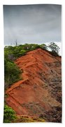 Red Cliff At Waimea Bath Towel