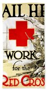 Red Cross Poster, C1918 Hand Towel