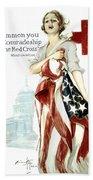 Red Cross World War 1 Poster  1918 Bath Towel