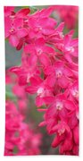 Red-flowering Currant Blossom Bath Towel