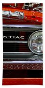 Red Customized Retro Pontiac-front Left Bath Towel