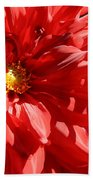Red Dahlia Bath Towel