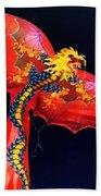 Red Dragon Kite Bath Towel