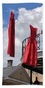 Red Dress Lineup  Bath Towel