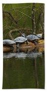 Red-eared Slider Turtles Bath Towel