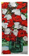 Red Explosion Bath Towel