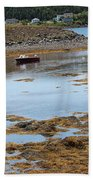 Red Flat At Low Tide Bath Towel