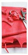 Red Fleece Bath Towel