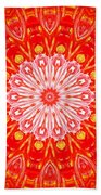 Red Flower Bath Towel