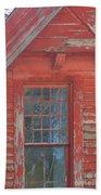 Red Gable Window Bath Towel