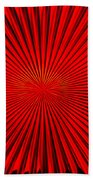Red Glass Abstract 4 Bath Towel