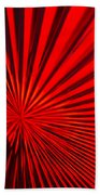 Red Glass Abstract 6 Bath Towel