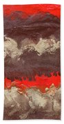 Red Gold And Brown Abstract Bath Towel