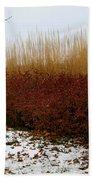 Red Gold Hedge Bath Towel