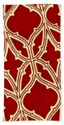 Gothic Pattern On Red Bath Towel