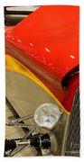 Street Car - Red Hot Rod Bath Towel