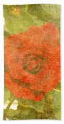Red Hot Rose Bath Towel