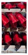 Red Kayaks Bath Towel