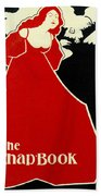 Red Lady The Chap Book1895 Bath Towel