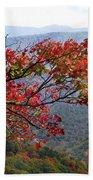 Red Leaves In The Blueridge Bath Towel