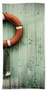 Red Life Saver Rescue Floatation Bath Towel