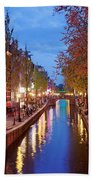 Red Light District In Amsterdam Bath Towel