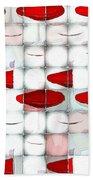 Red Light Glasses Bath Towel