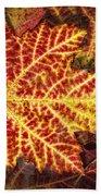 Red Maple Leaf Bath Towel