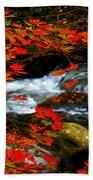 Red Maple Stream  Bath Towel