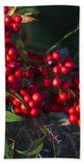 Red Nandina Berries - The Heavenly Bamboo Bath Towel