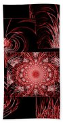 Red Neon Collage Bath Towel
