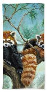 Red Pandas Bath Towel