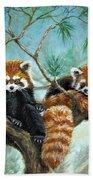 Red Pandas Bath Towel
