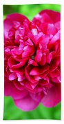 Red Peony Flower Bath Towel