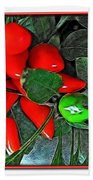 Red Pepper Plant Bath Towel