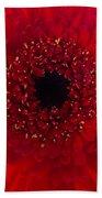 Red Petal Macro 3 Bath Towel