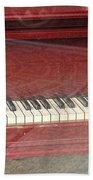 Red Piano 2 Bath Towel