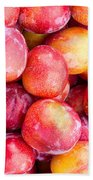 Red Plums Bath Towel