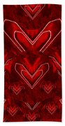Red Pop Art Hearts Bath Towel