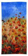 Red Poppies 562111 Bath Towel