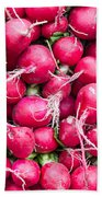 Red Radishes  Bath Towel