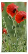 Red Red Poppies 2 Bath Towel