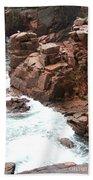 Red Rock Coast Maine Bath Towel