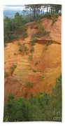 Red Rocks Of Roussillon Bath Towel