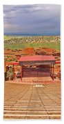 Red Rocks Park Amphitheater - Centered View Bath Towel