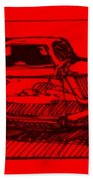 Red Rod Bath Towel